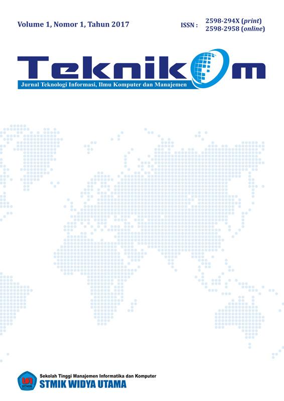 Teknikom Vol 1 No 1 2017